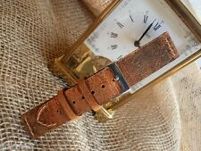 22mm ColaReb SPOLETO brown Italian Vintage genuine leather watchband strap
