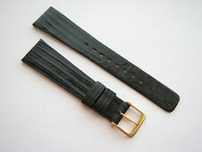 NEW NOS original Lassale vintage gen Lizard watch band 20/14mm 113+76mm (148)