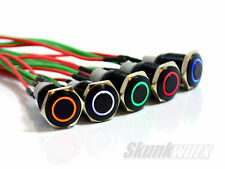 Skunkwurx  Black Metal LED Waterproof 12v Buttons for Race Technology Dash2/Pro