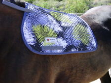 METRIZE PONY/ARABIAN ENGLISH QUILTED SADDLE PAD - BLK, NAVY W PALMS-NEW! SALE!!!