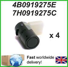 4 X Parking Sensor PDC  AUDI SEAT SKODA VW - 4B0919275E  7H0919275C  7H0919275