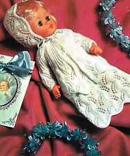 "Dolls clothes knitting pattern.14"" doll.  Laminated copy. (V Doll 154)"