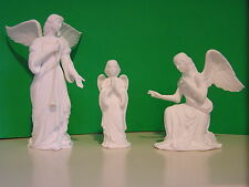 LENOX NATIVITY 3 ANGELS of ADORATION  set Bisque  NEW in BOX w/COA  Bone China