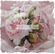 PINK ROSES shabby CERAMIC drawer door cabinet knob Romantic Vintage Desk pull