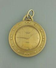 VINTAGE 18K SOLID GOLD SARCAR COIN SHAPED WATCH – 19 GRAMS TW or SCRAP