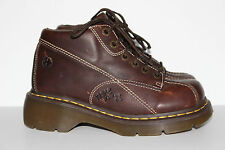 DR. MARTENS 12281 ANKLE BOOTS WOMEN'S SIZE 7M BROWN ~LEATHER~ MUST SEE!