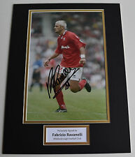 Fabrizio Ravanelli SIGNED autograph 16x12 photo display Middlesbrough AFTAL
