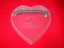 PLASTIC HEART SHAPED SPRING LOADED DOLL STAND FOR GINNY or 6 to 9 inch DOLLS