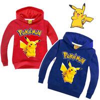 Pokemon Kids Clothes Boys Girls Cotton Hoodies Sweatshirts T-Shirts Pikachu Tops