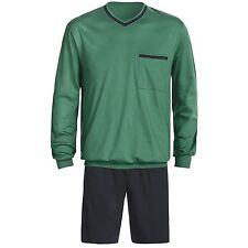 Calida - S - NWT $98 -  Navy Blue & Green L/S Shirt + Shorts Pajama/Lounge Set