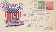 NAVAL MILITARY SHIP EVENT COVER - 1943 US NAVY 'BUY WAR BONDS' COLUMBIA, MO