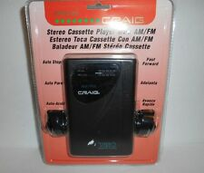 New Craig JH6222 Stereo Cassette Player AM/FM Radio W/ Headphones Sealed NOS