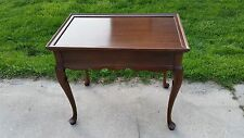 ETHAN ALLEN GEORGIAN COURT TEA TABLE 225 VINTAGE FINISH 11-8204  End