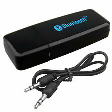 USB WIRELESS BLUETOOTH 3.5MM AUX AUDIO SOUND STEREO RECEIVER ADAPTER DONGLE AMP