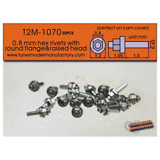 T2M #1070 0.8mm Hex Rivets with Round Flange & Raised Head (20pcs)