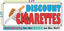 Full Color DISCOUNT CIGARETTES Banner Sign LARGER SIZE Best Quality for the $$$