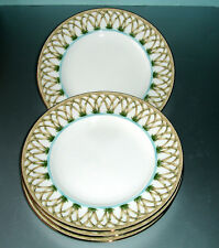 Lenox British Colonial Bamboo Accent Plates 4 Piece Set New