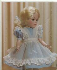 "VINTAGE 14"" MARY HOYER DOLL ALICE IN WONDERLAND DRESS CLOTHES PATTERN"