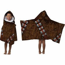 NWT Star Wars Chewbacca 22x51 Hooded Bath Towel Wrap Beach Cotton Toddler Kids