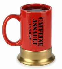 Caffeine Assault Mug 12 Gauge Shotgun Shell Shaped Army Novelty Tea Coffee Cup