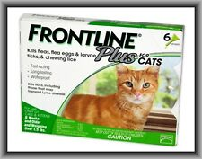 Merial Frontline Plus Flea & Tick Control for Cats, Over 1,5 lbs, 6 Month Supply