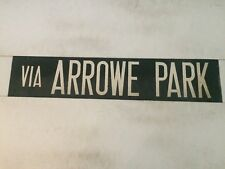 "Liverpool Vintage Linen Bus Destination Blind 29""- Via Arrowe Park"