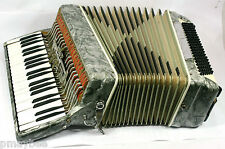 Vintage Lindo ACCORDION - 41 Key Pearl Finish - missing front cover but Works