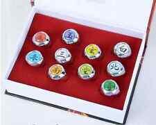 New Hot Sell ! Naruto Rings /10 pcs NARUTO Akatsuki Cosplay member's Ring Set