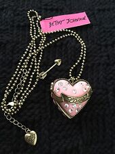 Large Betsey Johnson Pink Heart Pendant