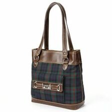 CHAPS RALPH LAUREN HARRIET NORTH SOUTH MACKINLAM PLAID TOTE BAG PURSE $89 SALE