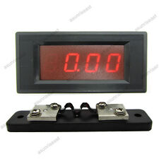 DC 20A Red LED Digital AMP Ammeter Panel Meter  With Current Shunt