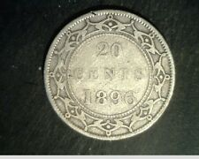 1896 Newfoundand, Canada 20 Cents, Medium Grade .1401 oz Silver (Can-553)
