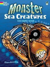 Dover MONSTER SEA CREATURES Adult Coloring Book Diana Zourelias Fine 20012