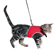 Voll Verstellbar Weich Katzengeschirr mit Reflektierender Paspelierung & Leine