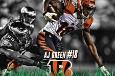 Cincinnati Bengals AJ Green Poster 24x36 Banner Wall Art Home Decor