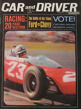 Car & Driver magazine 01/1964 featuring Amilcar, Chevrolet, Ford