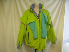 Ladies Ski Jacket Voltige Lime Green with fancy design M Size 12-14   0667