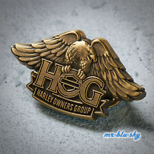 Genuine Brass H.O.G. Eagle Pin ~ Harley Davidson Owners Group HOG