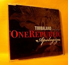 MAXI PROMO Single CD Timbaland Presents OneRepublic Apologize 2TR 2007 Hip Hop
