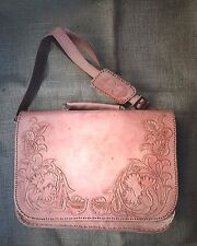 Bohemian Vintage Leather CrossBody Laptop Bag Including Free Gift with purchase