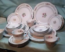 Lovely MINT 24 Pc 4 Place Settings Mikasa First Love Rose Pattern Dishes MORE