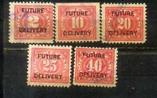 USA 2c To 40c Documentary Stamps Overprints Future Delivery