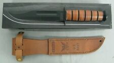 KA-BAR KNIFE 1225 USN NAVY USA LEATHER SHEATH FIGHTING COMBAT MILITARY KABAR NEW