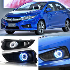 High Quality COB Angel Eyes Bumper Projector Fog lights For Honda City 2014-2015