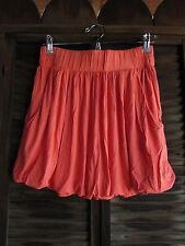 Tangerine Orange Lined Flouncy Womens Casual Above Knee A Line Skirt Jr M