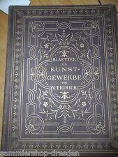 KU205 Teirich Valentin Blätter für Kunstgewerbe Band 1 2 Möbel 1872 Gründerzeit