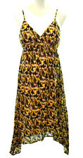 MOTHERHOOD MATERNITY Womens Small S Gold Black Tribal Chevron Sundress Dress