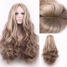 75cm New Sexy Long Big Curly Wavy Anime Cosplay Wigs Women Ladies Hair Full Wig