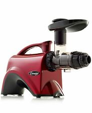 Omega NC800HDR Red Slow Speed Nutrition Center Masticating Juicer Red Color