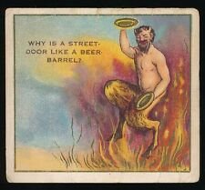 1910 T97 Perfection Cigarettes RIDDLE SERIES #39 Satyr Dancing In Flames (#195)